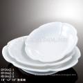 Professionelle Porzellan Großhandel moderne Design Restaurant weiße quadratische Porzellan Platte