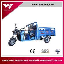 Triciclo elétrico da caixa da carga da exploração agrícola 650W