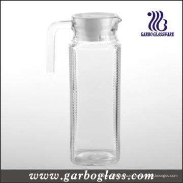 1lgrid Glass Jug with Lid (GB1102ZS-1)