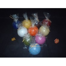 Bougie boule ronde en forme colorée