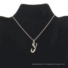 Collier de l'alphabet promotionnel pas cher nouveau bijoux (FLN16040703)
