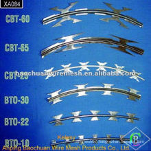 High quality stainless steel blade barbed wire with competitive price in store