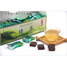 125g Chinês emagrecimento blocos de chá verde puro