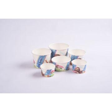 Gobelets en papier biodégradables écologiques avec couvercles