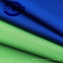 100% poliéster fios tingidos de tecido coolness favo de mel para sportswear