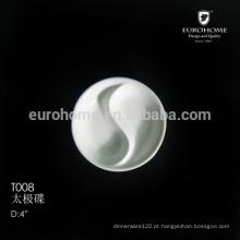 T008 ChaoZhou restaurante Louça Dividida Porcelana Soja 80 milímetros