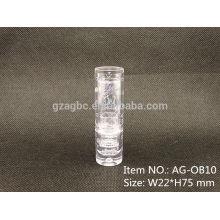 AG-OB10 encantador redondo recipiente batom de plástico transparente para atacado