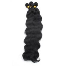 pelo indio virginal al por mayor sin procesar crudo remy de la onda del cuerpo humano del pelo humano