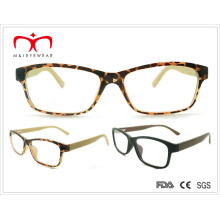 Men′s Tr90 Reading Glasses with Wooden-Like Temple (8078)