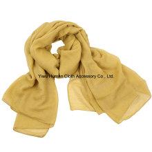 Echarpe en coton Lady Fashion Voile avec coloré solide