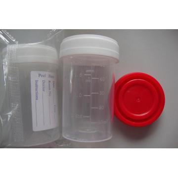 CE Aprovado 60ml Etiquetado Exame Container