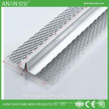En forma de V de aluminio flexible de plata de aluminio de azulejos de pared azulejo esquinero