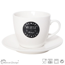 Black & White New Bone China Tea Cup & Saucer