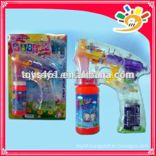 Transparent Bubble Gun,Funny Friction Bubble Gun Toy,Flashing Bubble Gun For Kids With Bubble Water