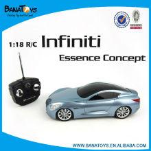 1:18 4 funções de controle de rádio modelo de carro