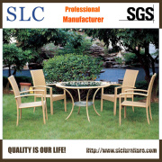 Glass Table Furniture/Modern Table and Chairs for Garden/ Rattan Table & Chairs/Rattan Furniture Dining Table (SC-B1011)