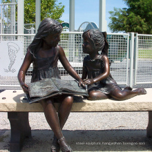 Bronze Girl Reading Statue