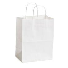 China Professional Supplier for China Kraft Paper Bag,Brown Kraft Bags,Kraft Paper Shopping Bags Supplier White Kraft Paper Bag with Twisted Rope supply to South Korea Manufacturers