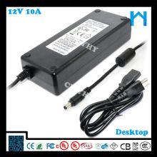 Fuente de alimentación del transformador de 12 voltios, 12v fuente de alimentación de 10 amperios UL cUL CE FCC GS SAA C-señal KCC 120W