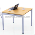 Дизайн таблицы переговоров для офисной персиковой древесины + отделка теплым белым, офисная мебель Fashional для продажи (JO-4053)