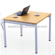 Diseño de la tabla de la negociación para la madera del melocotón de la oficina + acabado blanco caliente, muebles de oficina de Fashional para la venta (JO-4053)