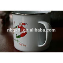 Certification and Mugs christmas Printed enamel mugs