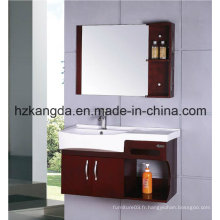 Cabinet de salle de bain en bois massif / vanité de salle de bain en bois massif (KD-420)