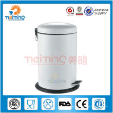 18/0 stainless steel foot pedal waste king, advertising bin