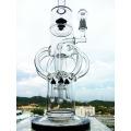 "Hb-K57 ""The Atomic Nucleus"" 8 Arm Recycler Rocket Shape Glass Smoking Water Pipe"