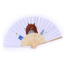 FQ marca Promoção presente bambu costume impressa papel dobrável mão fã