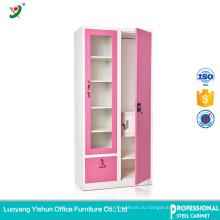 индийский домашний шкаф шкафа спальни стальных конструкций железном шкафу с цена двойной двери металлический шкаф