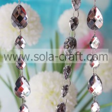 Wonderful 13*18MM & 13*18MM Mirrow Refletion Charm Spacer Loose Wedding Teardrop Bead Garland For Centerpieces Weddings