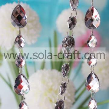 Holiday Inspirations Teardrop Beaded Garland Kristal Wit Glittery Snaren 13 * 18MM