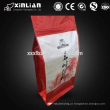 Flat fundo saco de embalagem de alimentos secos com zíper / ziplock folha de alumínio saco de embalagem de alimentos secos