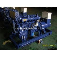 90KW / 112.5KVA Marine Type Diesel Generator Set, 380v / 22
