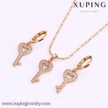 61681-Xuping Amazing Heart Key Pendant Set Jewelry On Sale