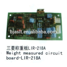 Tableau de bord de poids mesuré / carte PCB / pièces ascenseur Mitsubishi