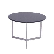 Современный круглый мраморный журнальный столик из нержавеющей стали