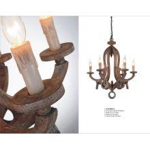 Lámpara colgante de madera decorativa del restaurante del vintage (N-039S-6)