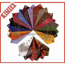 Algodão colorido personalizado da impressão Bandana de Paisley