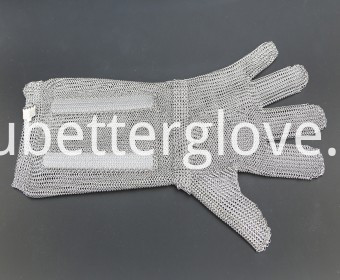 steel gloves with metal hook strap