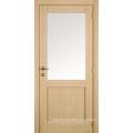 Oak Veneer 2 Panel Entry Shaker Style Door, MDF Shaker Style Door
