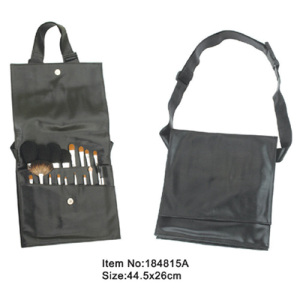 18pcs makeup brush tool set with black PU hand bag