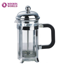 High Quality 350ml Double Filters Borosilicate Glass Metal French Press Tea Maker