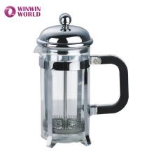 Высокое качество 350мл двойные фильтры Боросиликатное стекло металл французский пресс машина для приготовления чая
