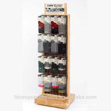 Brand Behind The Marks Freestanding ou Tabletop Retail Socks Display Stand para alcançar metas de vendas e reforçar a imagem da sua marca