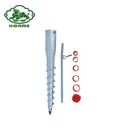 Customized Sizes Ground Screw Piles For Umbrella
