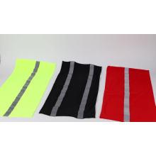 100% Polyester custom wholesale promotional men reflect strip neck gaiter for sale