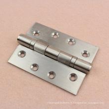 Charnières de porte de polissage de roulement à billes de 3,4,5 pouces pour la porte en bois intérieure