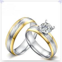 Cristal jóias acessórios de moda anel de aço inoxidável (SR807)